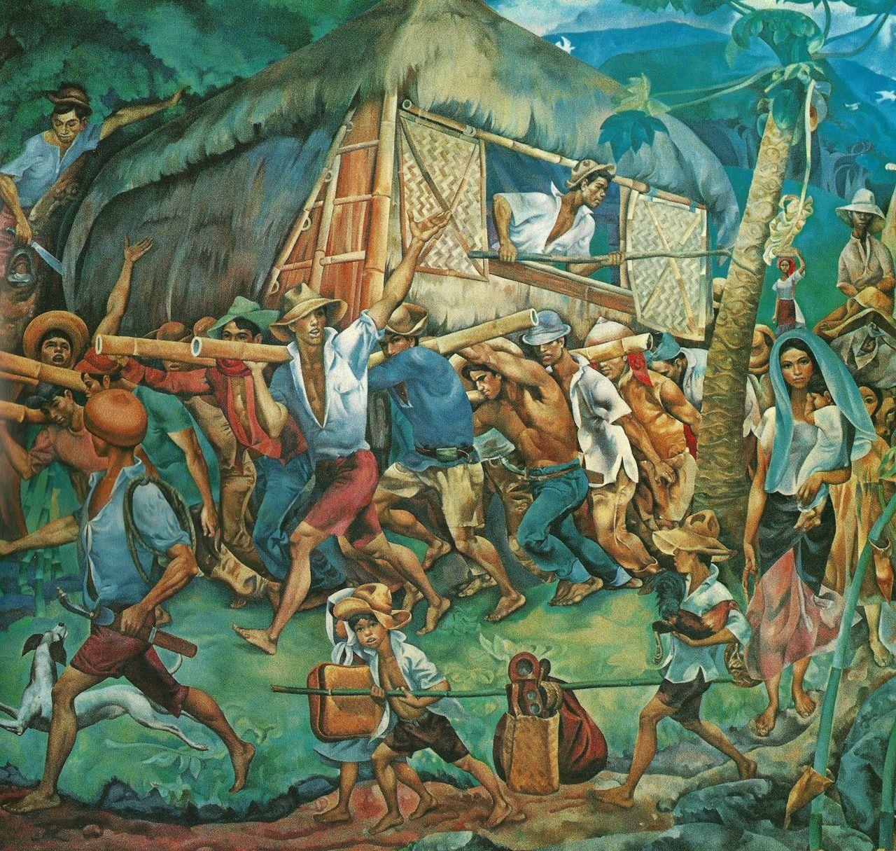 botong francisco Bayanihan Filipino art, Philippine art