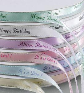 personalized gifts personalized iridescent edge ribbon custom