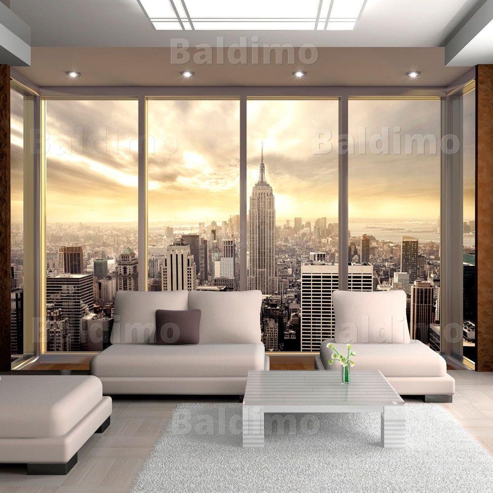 New Yor Skyline Panorama Fototapete Vlies Tapete Xxl Wandtapete 10110904 34 Ebay Fototapete Wandtapete Alte Fenster Dekorieren