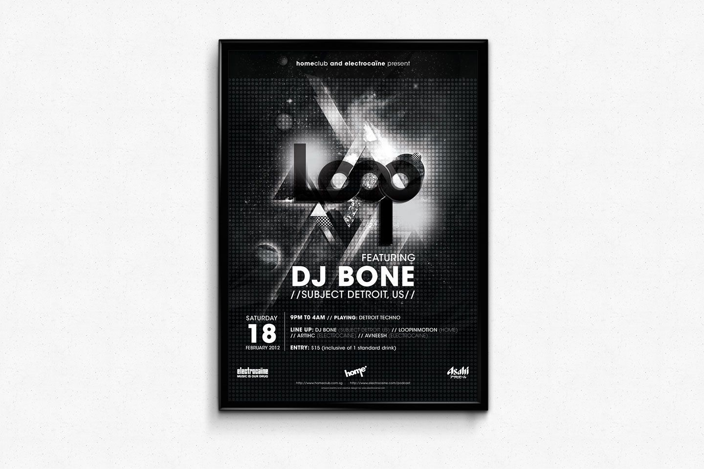 LOOP | a techno love-affair curated by electrocaïne, aims to bring back the raw power of this pure modernist style of synthesized soul. it is more than just a narrowly defined genre or style. It is a way of thinking. it's the beauty of repetitive beats and rhythms that oscillates, grows, diminishes, breathes…and goes doop doopp doop dooopp, like the constant beat of your heart.