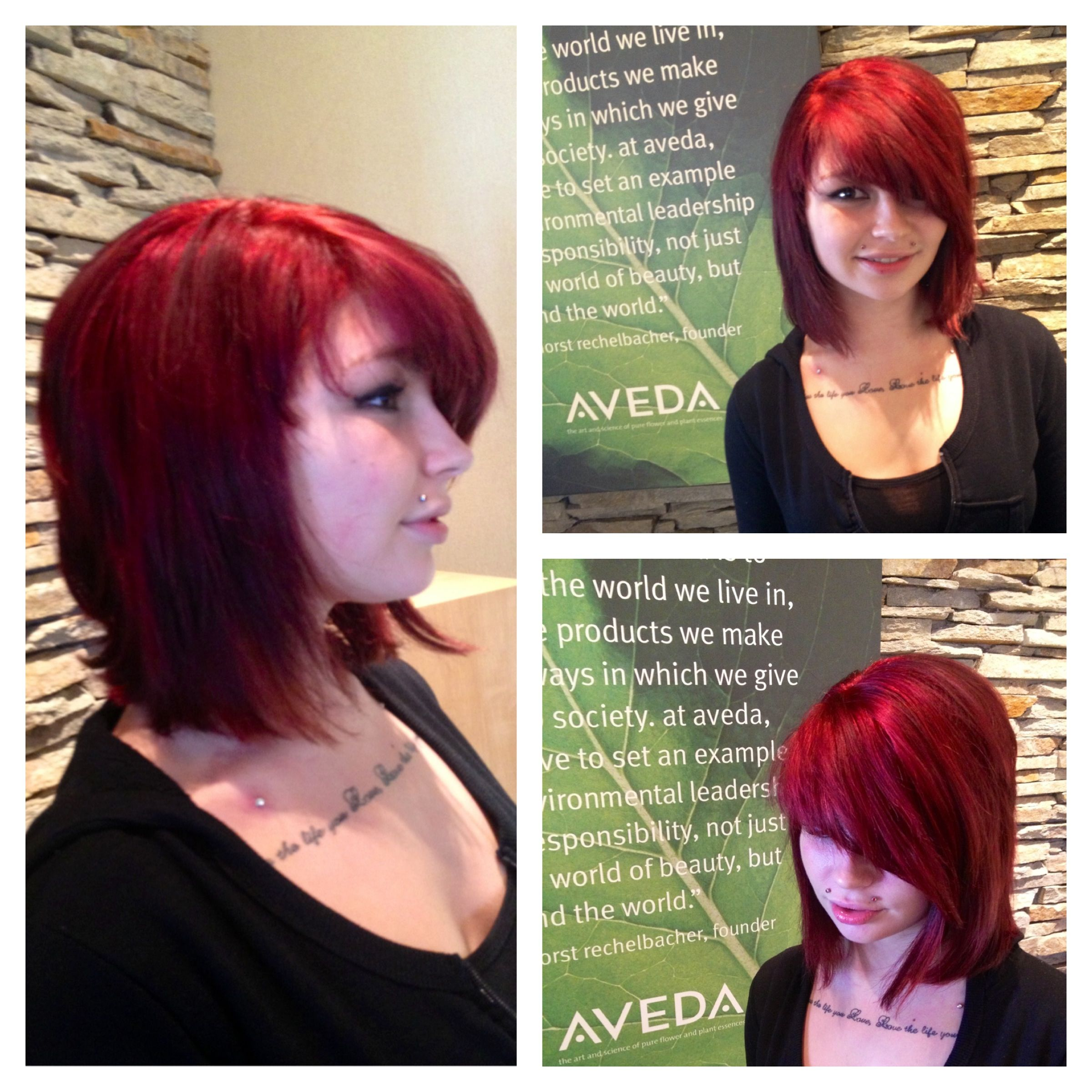 Katie s new fall inspired red by our stylist Joe haircolor