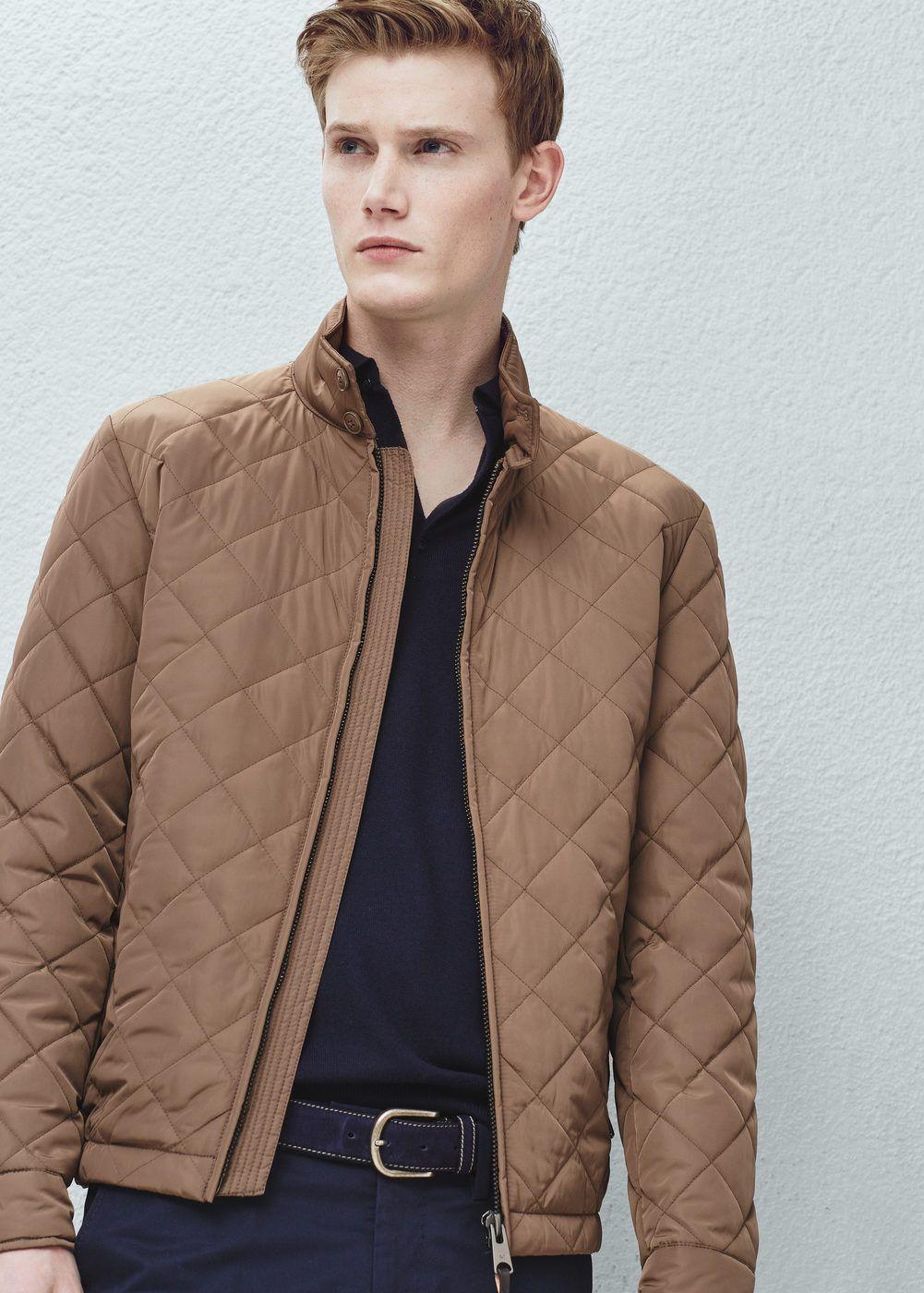 Pocket Quilted Jacket Men Mango Man United Kingdom Mens Jackets Mens Outdoor Jackets Men S Coats And Jackets [ 1400 x 1001 Pixel ]
