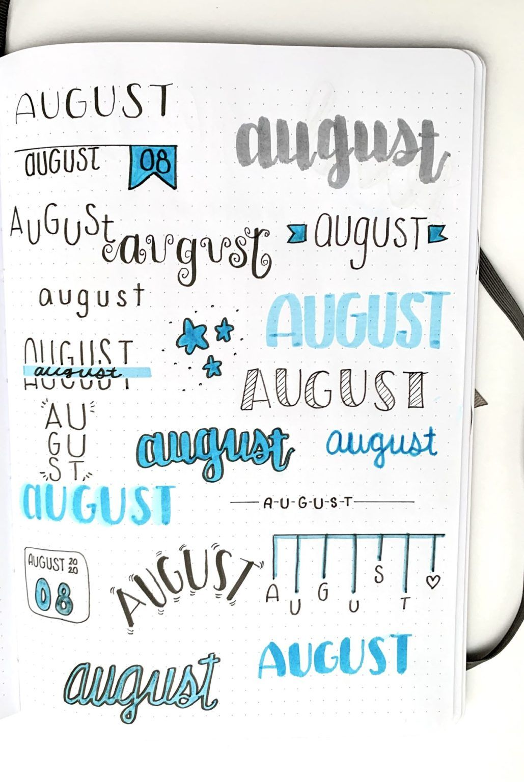 Monthly Bullet Journal Headers To Try This Year! –