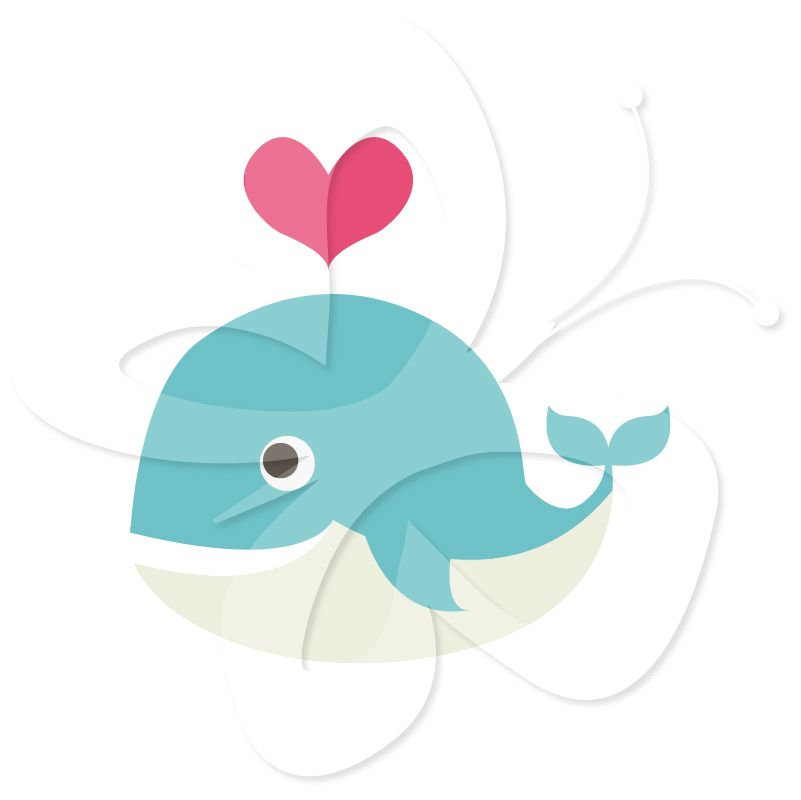 Baby Shower Whale Clipart Colourful whales | Baby Shower ...