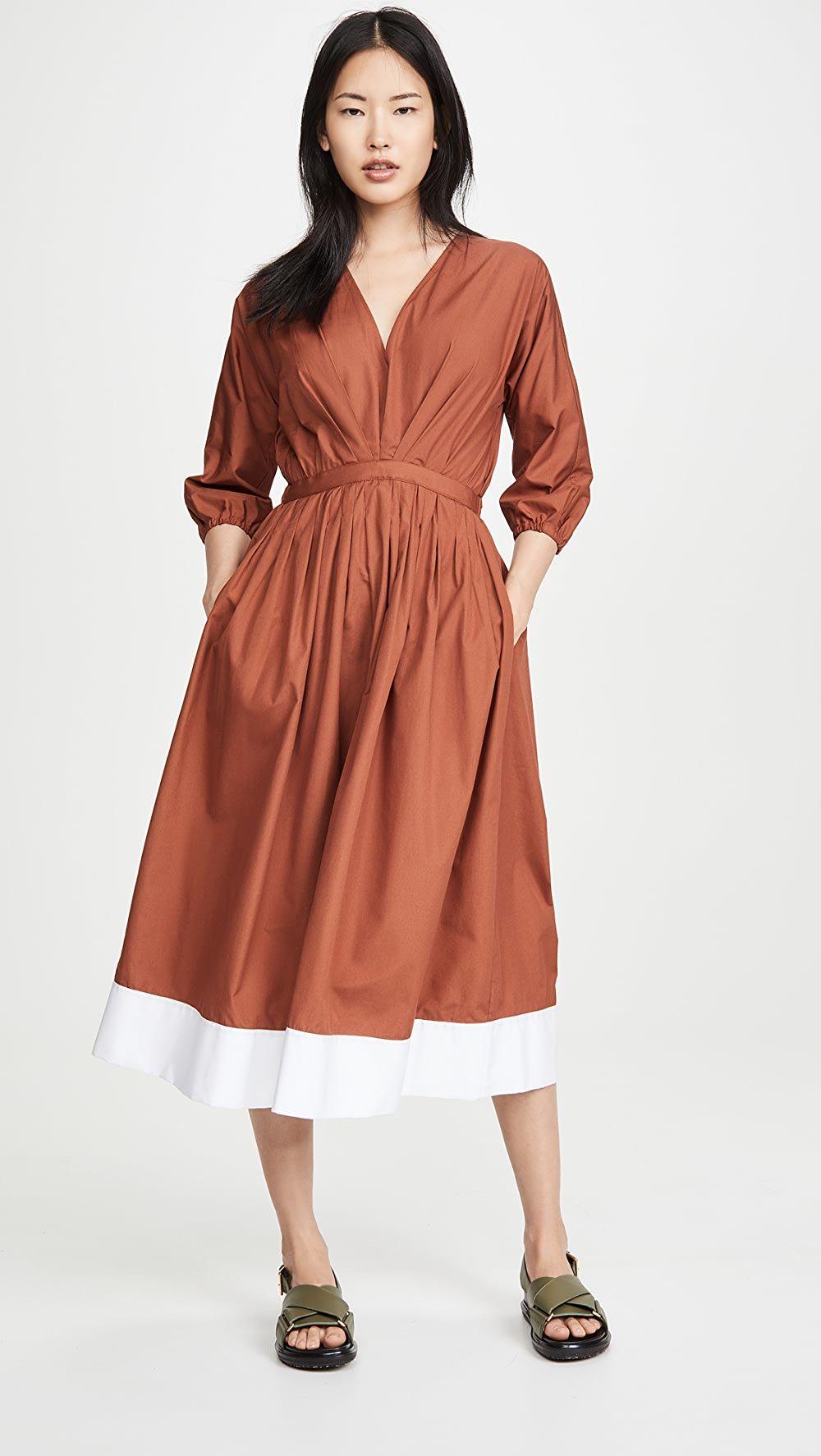 No 21 V Neck Long Sleeve Midi Dress Long Sleeve Midi Dress Dresses Midi Dress [ 1773 x 1000 Pixel ]