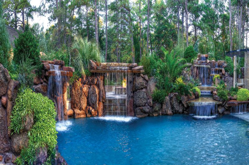 Luxury Pools Luxury Swimming Pools Backyard Pool Pool Waterfall