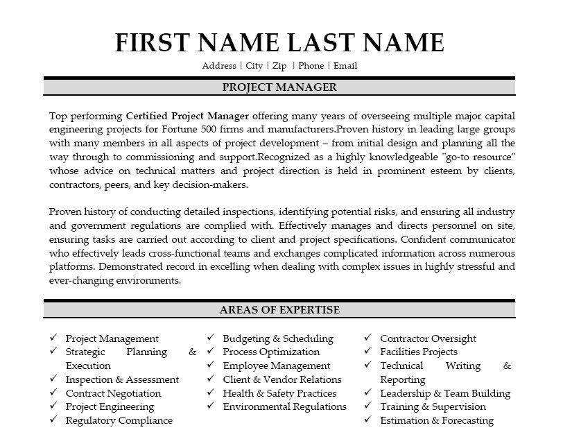 Click Here to Download this Project Manager Resume Template! http - government contractor resume