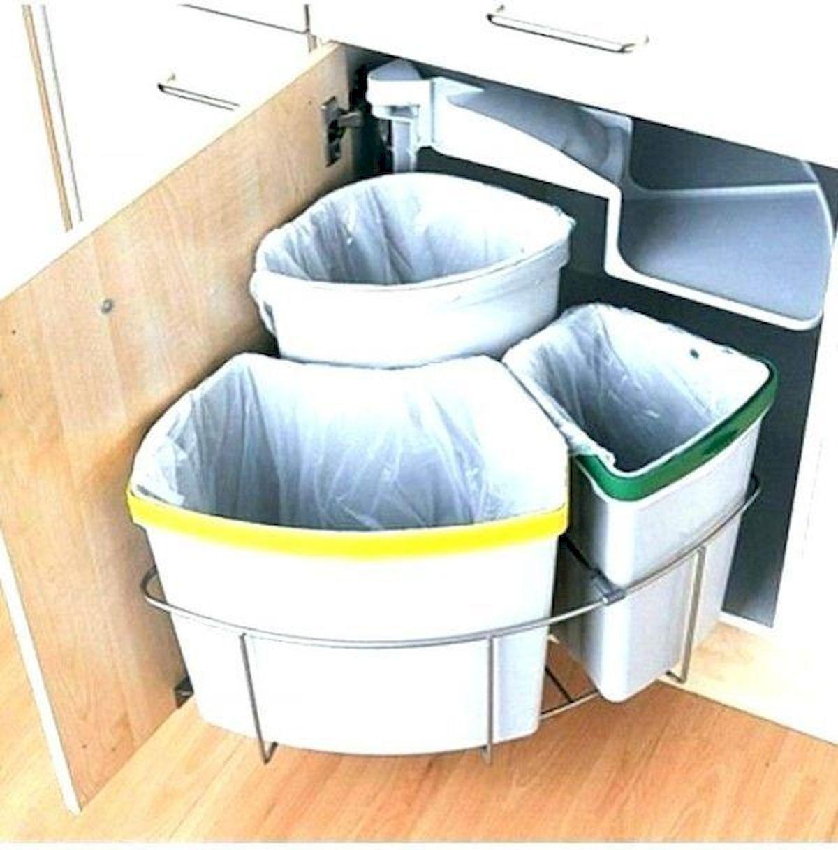 Kitchen Recycling Bins For Good Waste Management Https Hajarfresh Com Kitchen Recycling Bins For Goo Clever Kitchen Storage Trash Can Cabinet Kitchen Storage