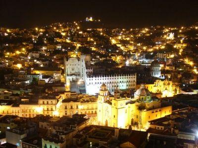 Ciudad de Guanajuato de noche