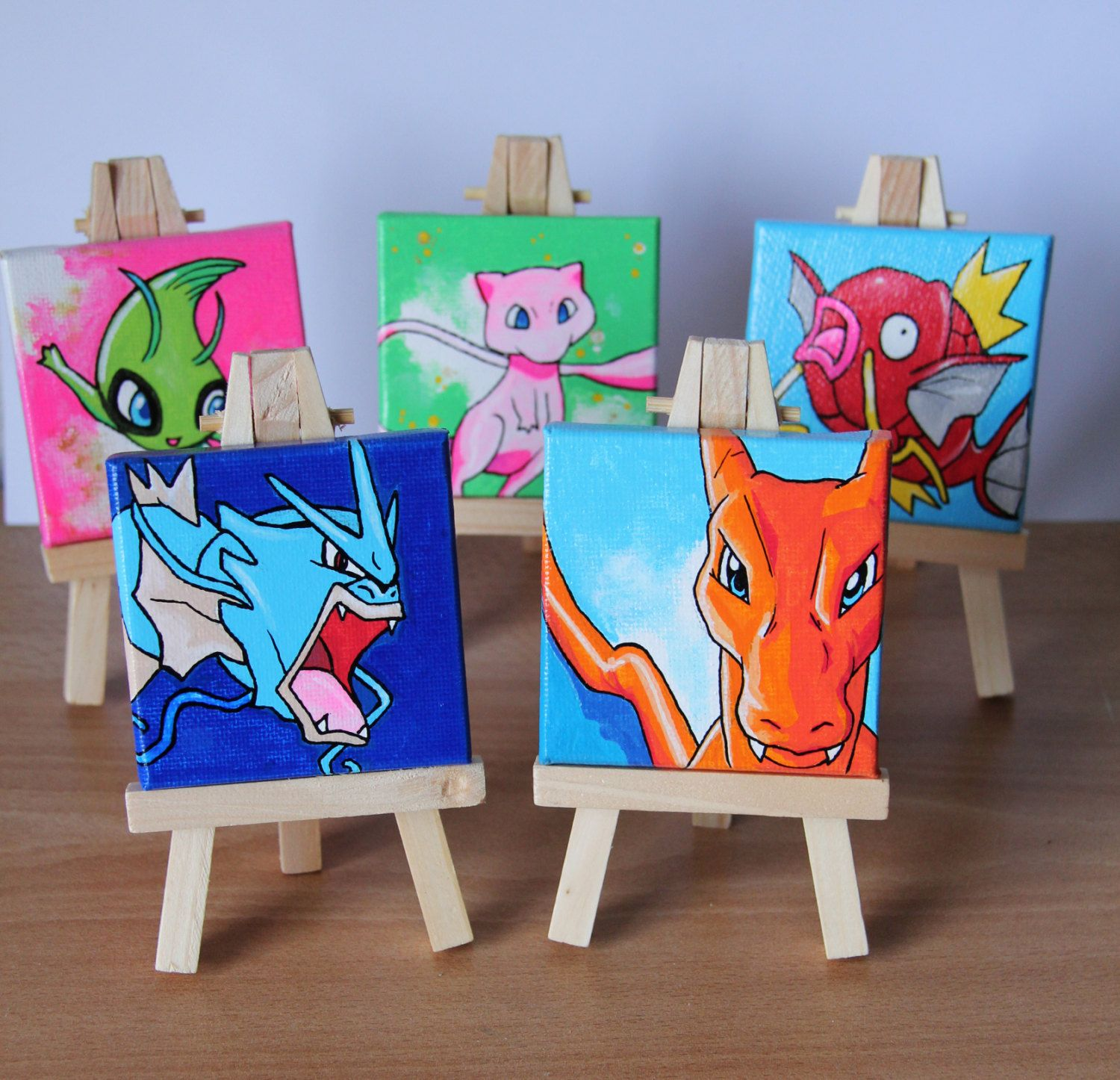 Custom small pokemon painting + easel unique exclusive hand painted one of & Bulbasaur planter - Pokemon Flower Pot | Pokémon Pokemon shop and Etsy