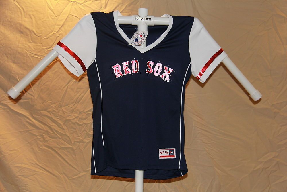 10051c688bb Boston Red Sox MLB Fan Fashion JERSEY Shirt by MAJESTIC Womens Large NWT   40   24.77 End Date  Saturday Nov-24-2018 23 24 42 PST Buy It Now…