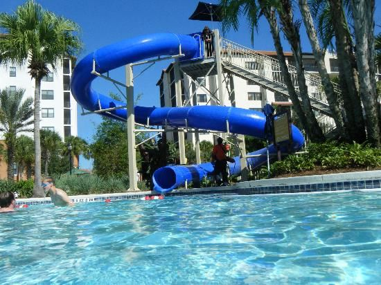 One Of Two Water Slides At River Island Lazy River Pool