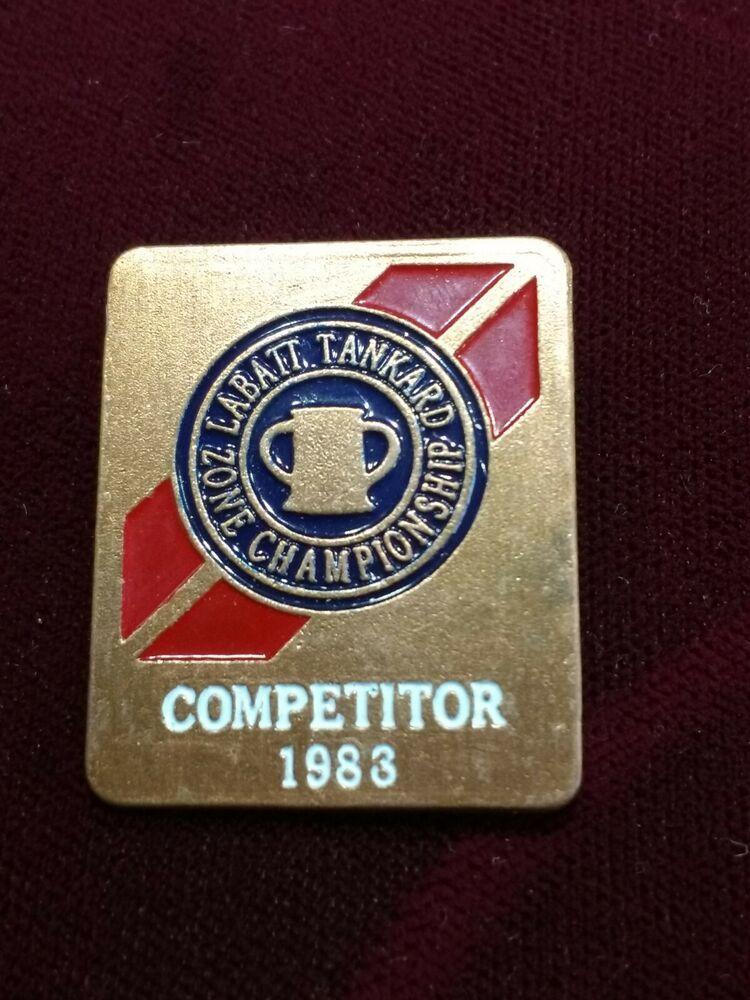 Labatt Tankard Zone Championship 1983 Competitor Curling Pin In 2020 Tankard Competitor Ebay