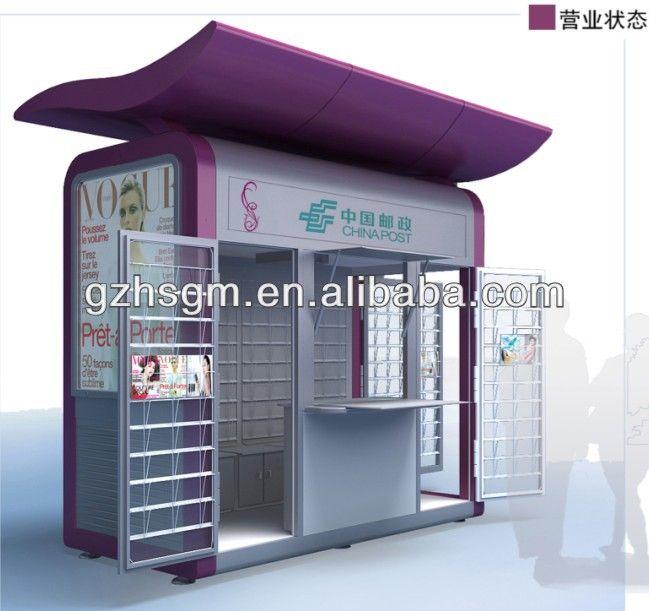 High Quality Prefab Outdoor Street Metal Retail Kiosk/food