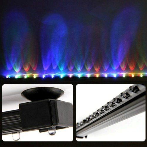 Deckey 12 Inch Rgb Led Light Underwater Led Aquarium Light Strip Airstone For Aquarium Fish Tank Flood Lights With Images Aquarium Lighting Flood Lights Rgb Led Lights