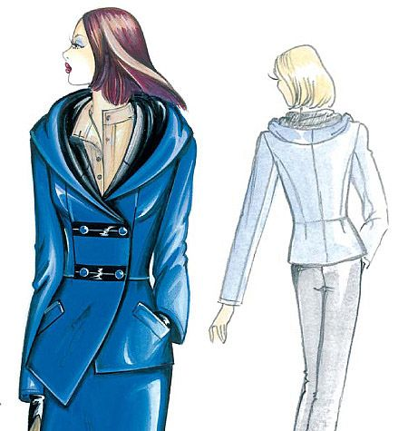 Marfy Jacket | Marfy Patterns (Fashion Illustrations) | Pinterest