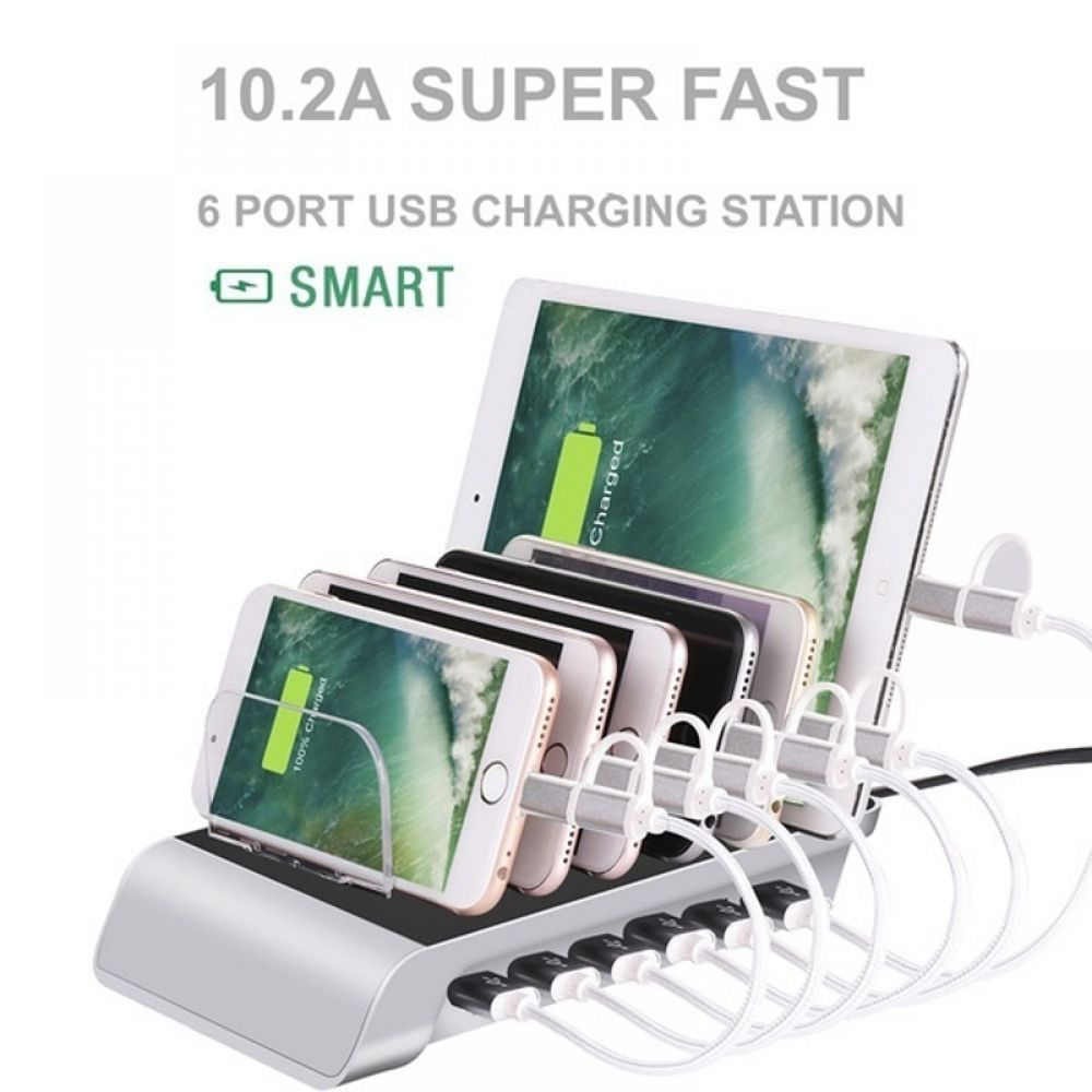 Multi Port Fast Charging Usb Phone Charger 4 6 Ports Station Dock