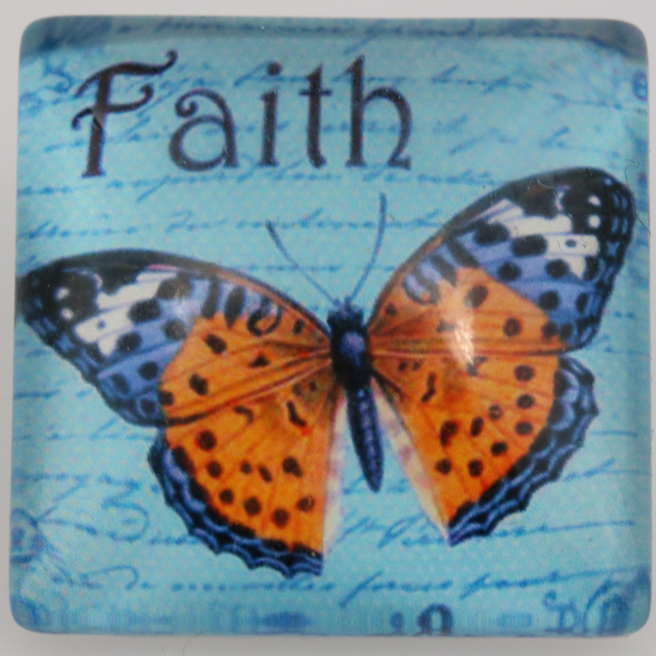 #80300 - Snap Jewelry - Snap - 25mm Square - Butterfly / Faith