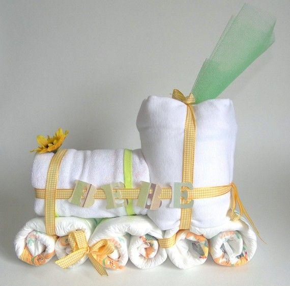 cadeau naissance original train de couches b b baby shower pinterest cadeau naissance. Black Bedroom Furniture Sets. Home Design Ideas