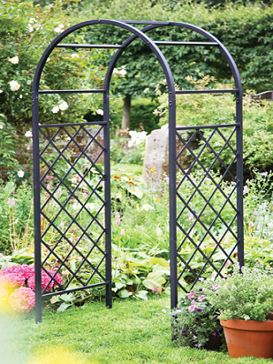Iron Arch For Garden York Small A Decorative With Beautiful Scroll Work The Steel