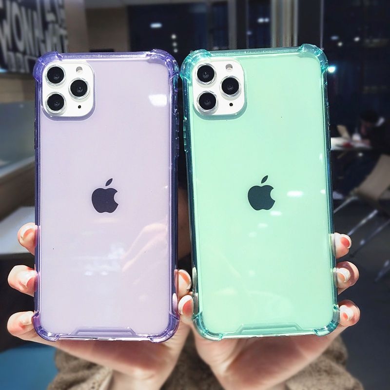 Shockproof bumper transparent silicone phone case for