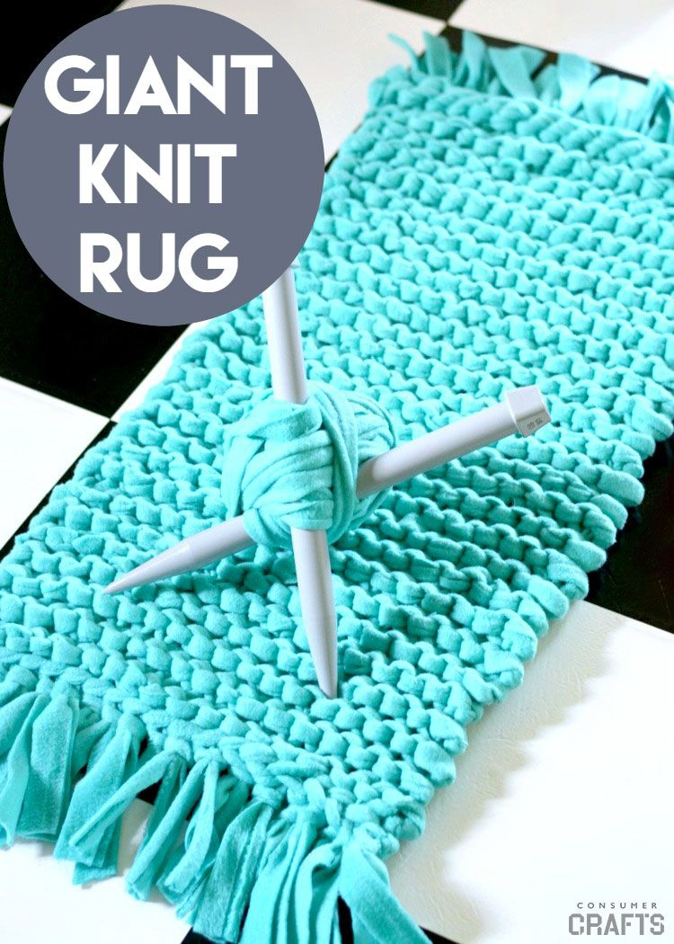 I Made Up This Bulky Knit Fleece Rug To Show You How Giant