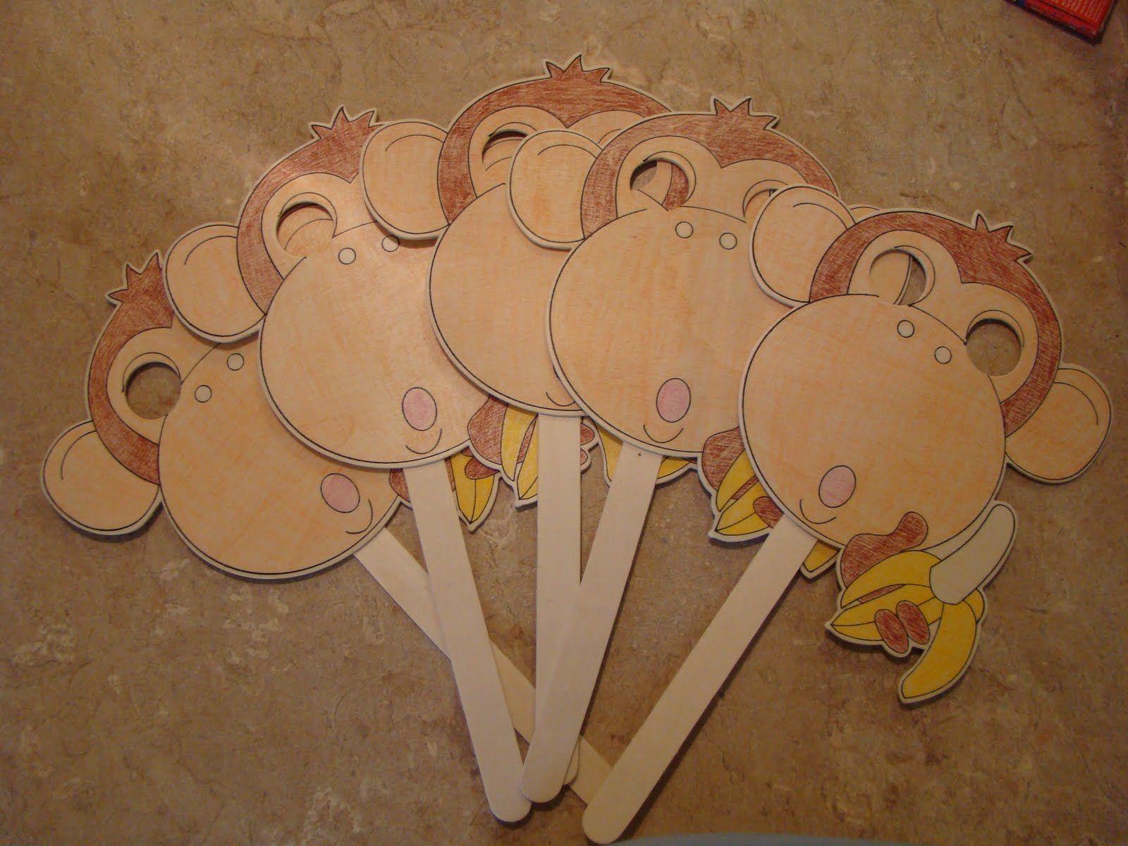 What Have I Done Now 5 Little Monkeys Masks