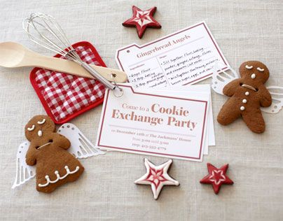 Cookie Exchange Invitations Holiday Season Pinterest Christmas