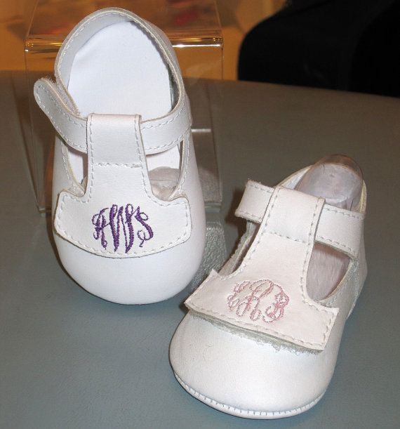 Clearance monogrammed baby girl shoes in white by childrenscottage clearance monogrammed baby girl shoes in white by childrenscottage 2699 negle Image collections