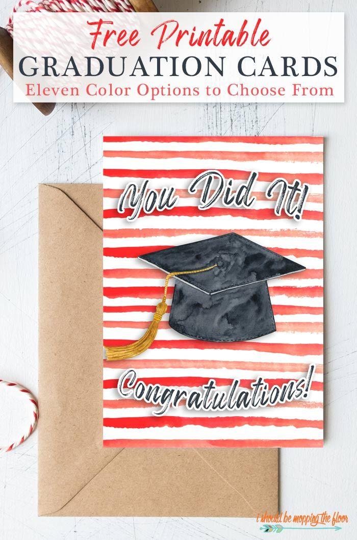 Photo of 11 Free Printable Graduation Cards