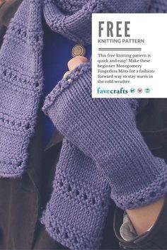 Beginner montgomery fingerless mitts circular needles free crochet dt1010fo