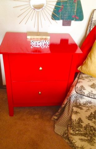 Rustoleum Safety Red Enamel Paint End Table Redo Virgin Voyage In Oil