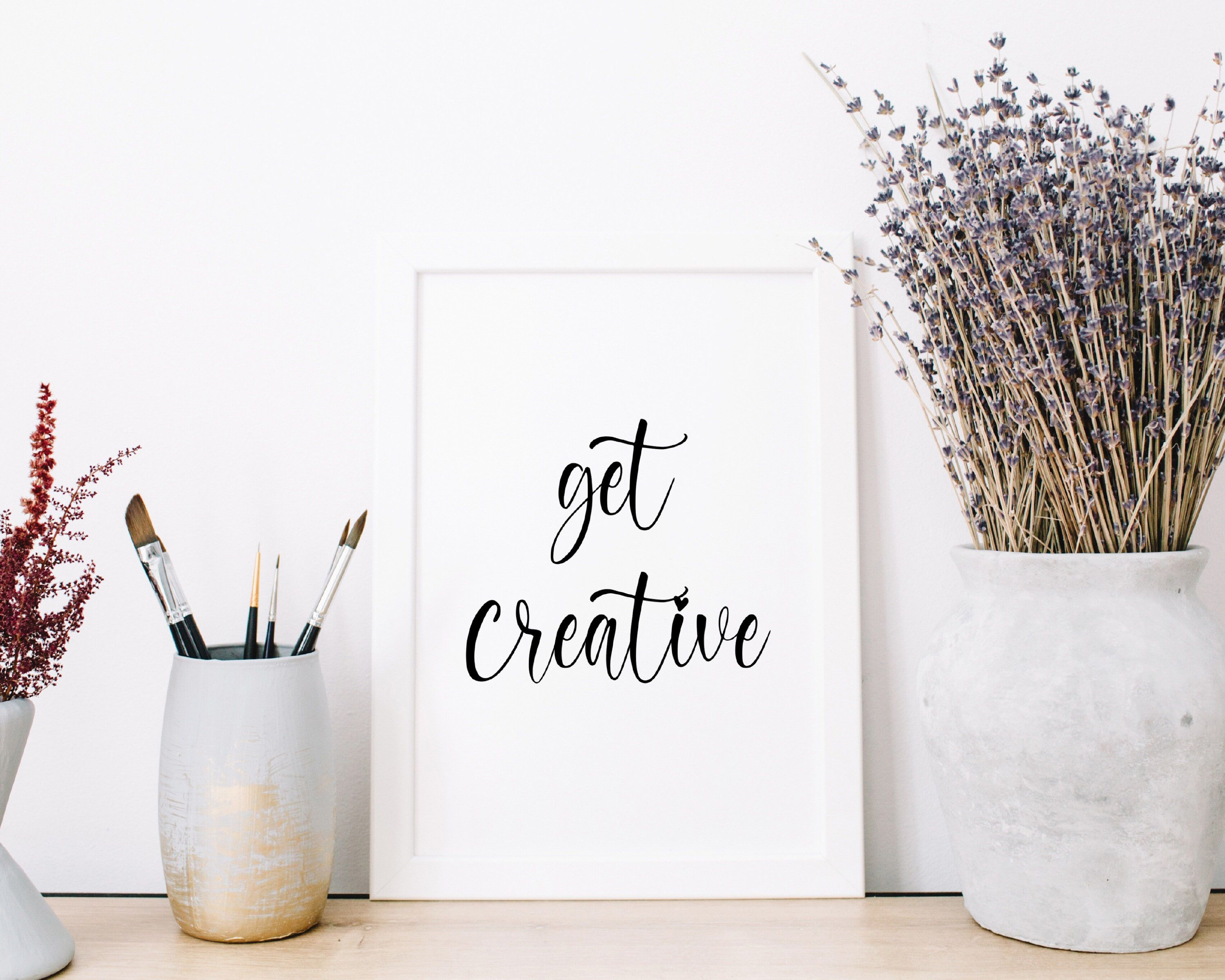 Get Creative Art Print Inspirational Quote Typography   Etsy