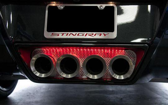 Exhaust Port Filler Panel C7 Corvette Stingray And Z06 Npp Dual Mode Corvette Corvette Stingray Stingray