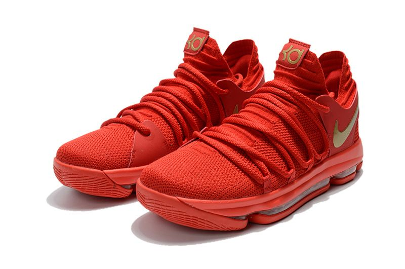 outlet store 25f9c c7dde 2018 Original Nike KD 10 X University Red Metallic Gold
