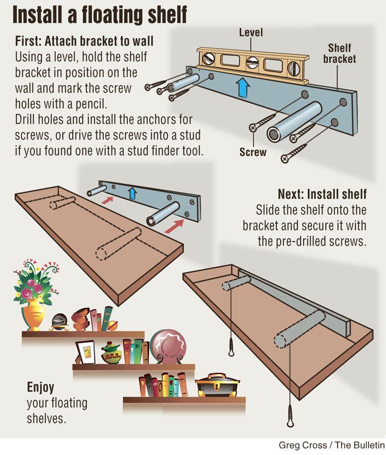 Diy Install Floating Shelf Estantes Flotantes Diy Repisas De Madera Estantes Diy