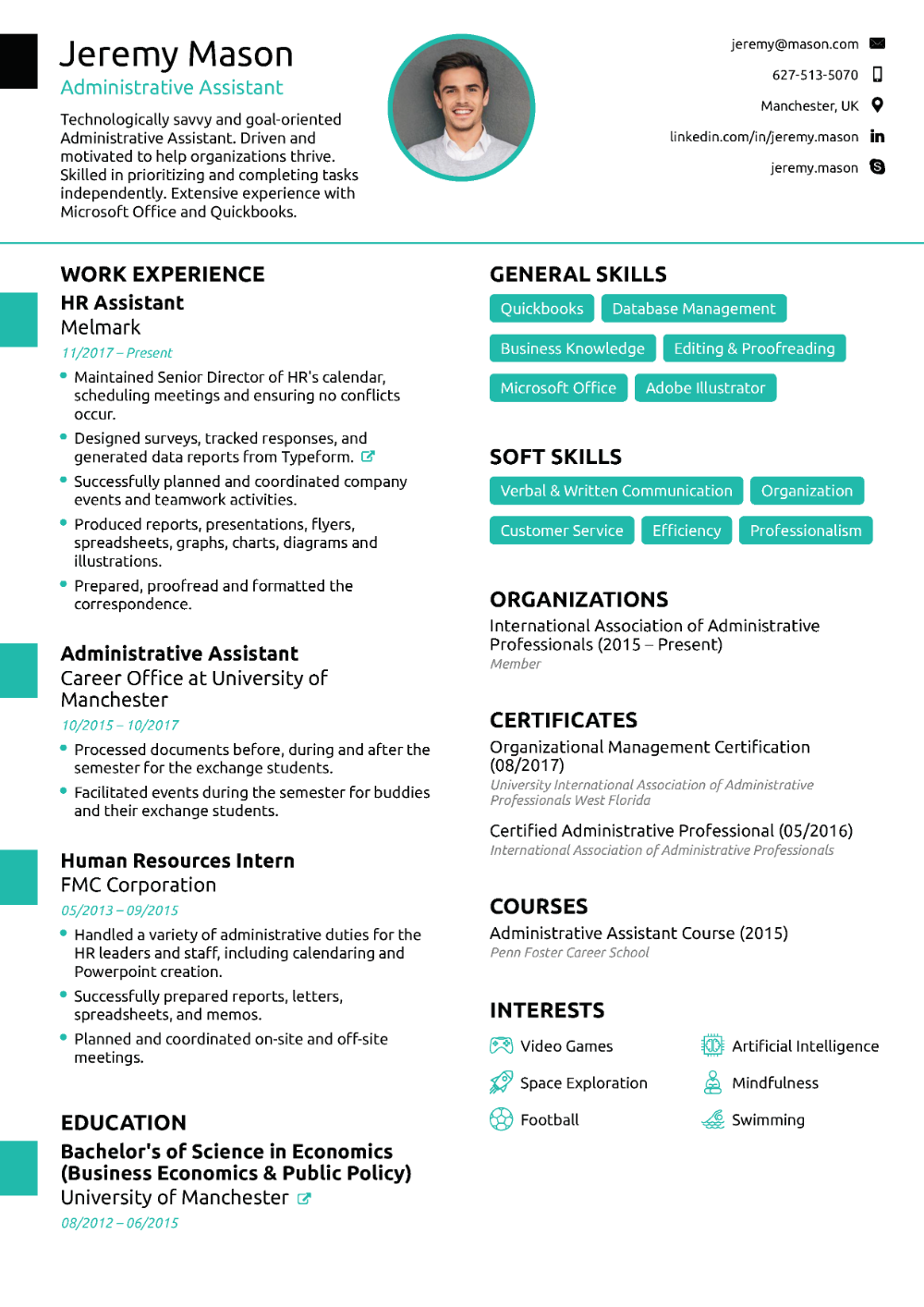 Cv De L Adjointe Administrative 2019 Guide Et Exemples Cv Assistante Administrative Cv Lettre De Motivation Competences Cv