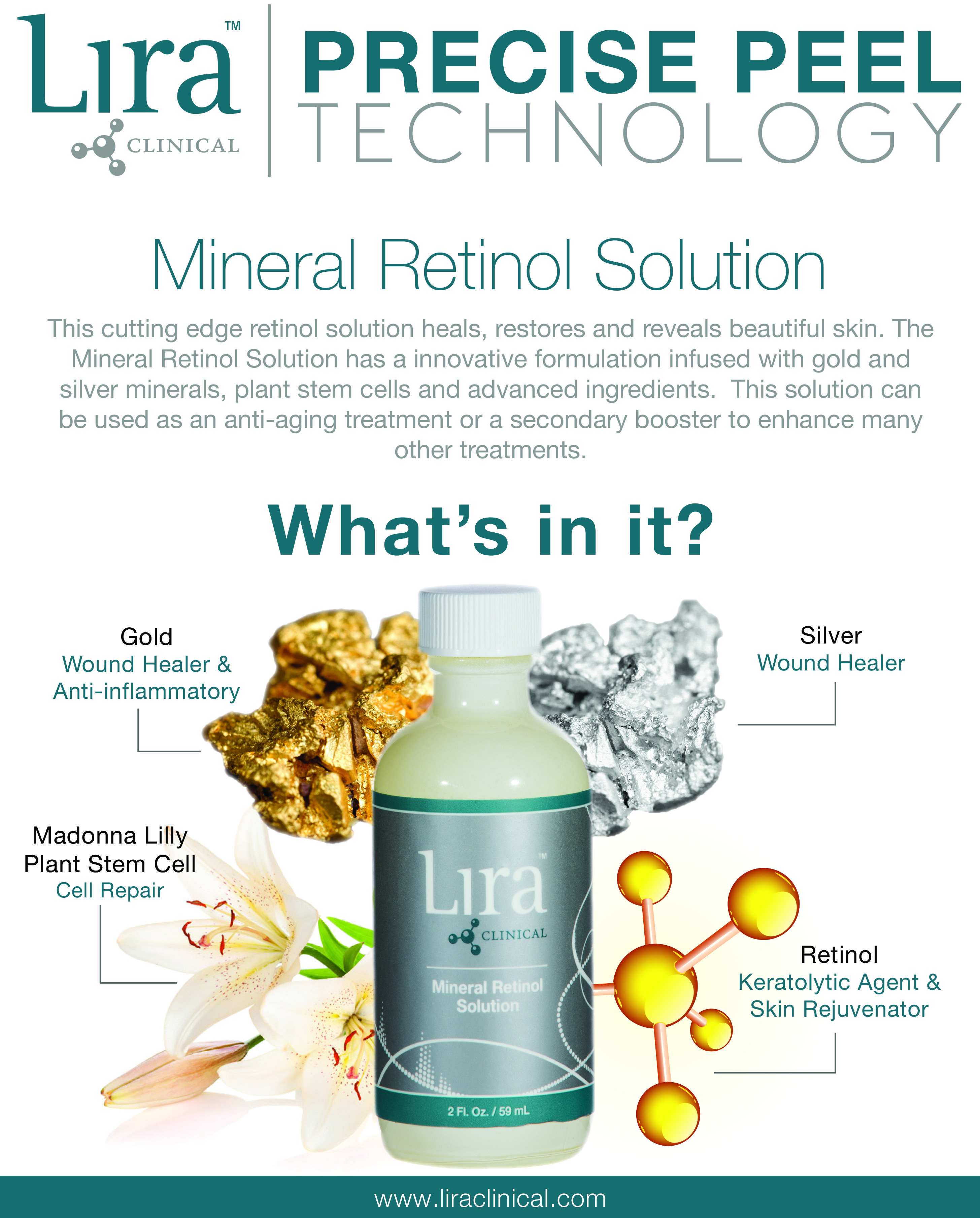Check Out Our Mineral Retinol Solution This Peel And Solution Is Used To Heal Restore And Reve Skin Care Treatments Excellent Skin Care Anti Aging Treatments