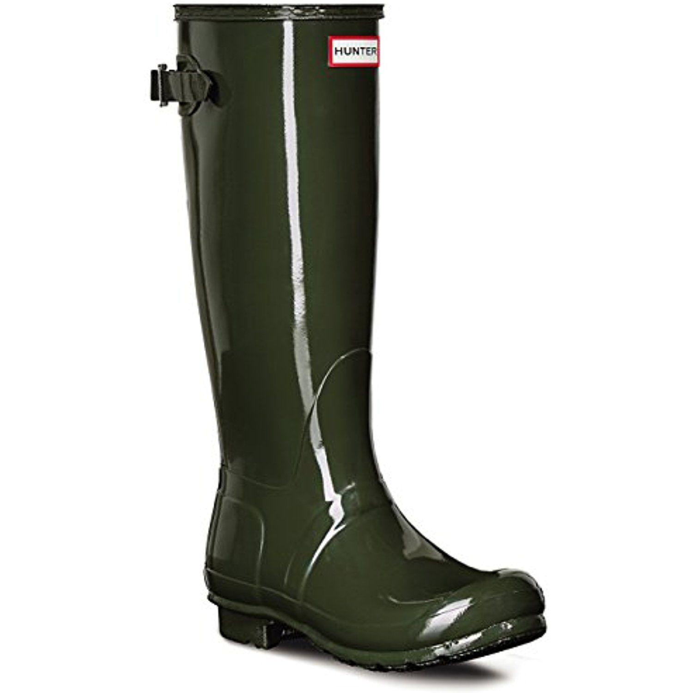Womens Hunter Original Adjustable Back Gloss Rain Snow Wellington Boot      Be sure to 549b3cae6a