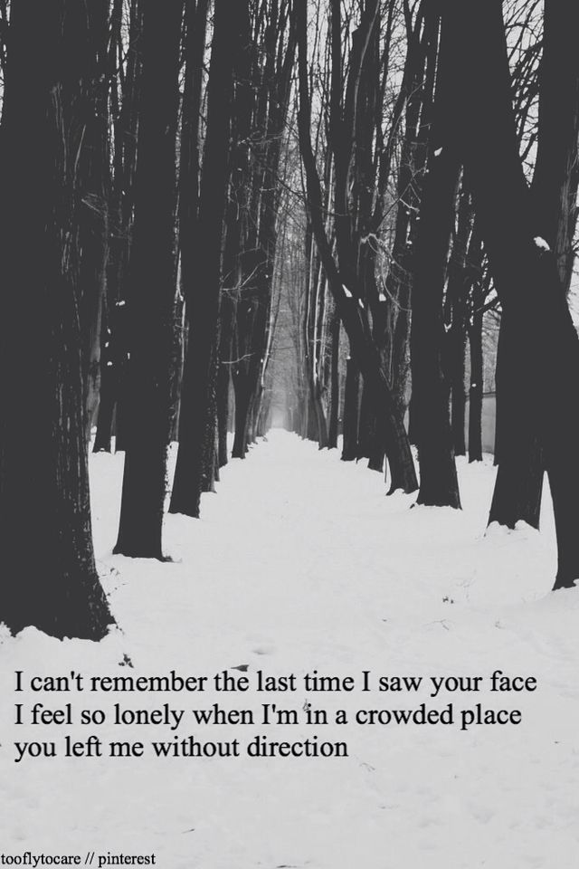 Winter trees lyrics