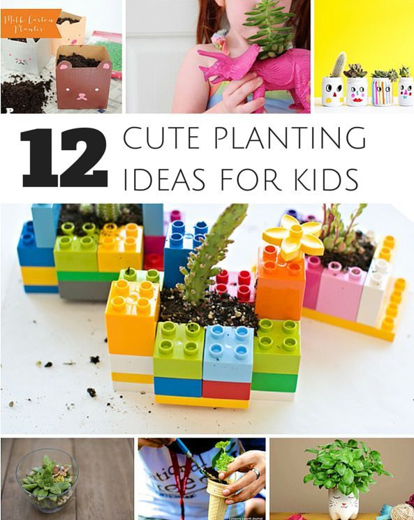 12 Cute Planters Kids Can Make To Get Them Excited about Gardening. Adorable DIY Planters for Kids.