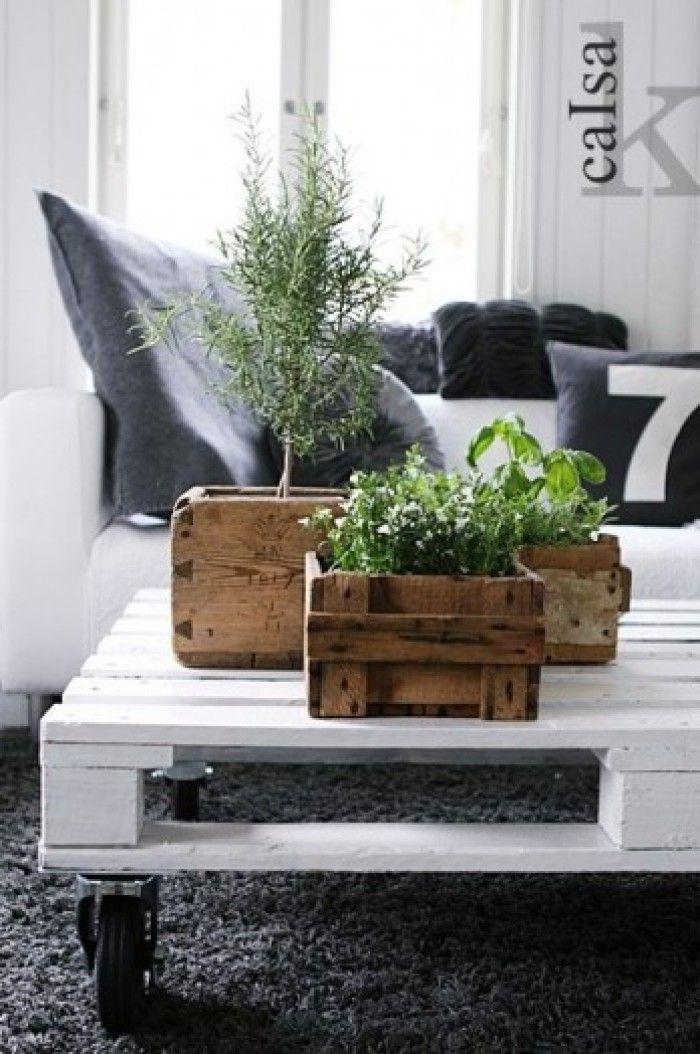 Tafel mooi, maar ook de plantenbakken