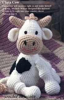 Cosiendo Con Mi Blythe: Patrón amigurumi vaca
