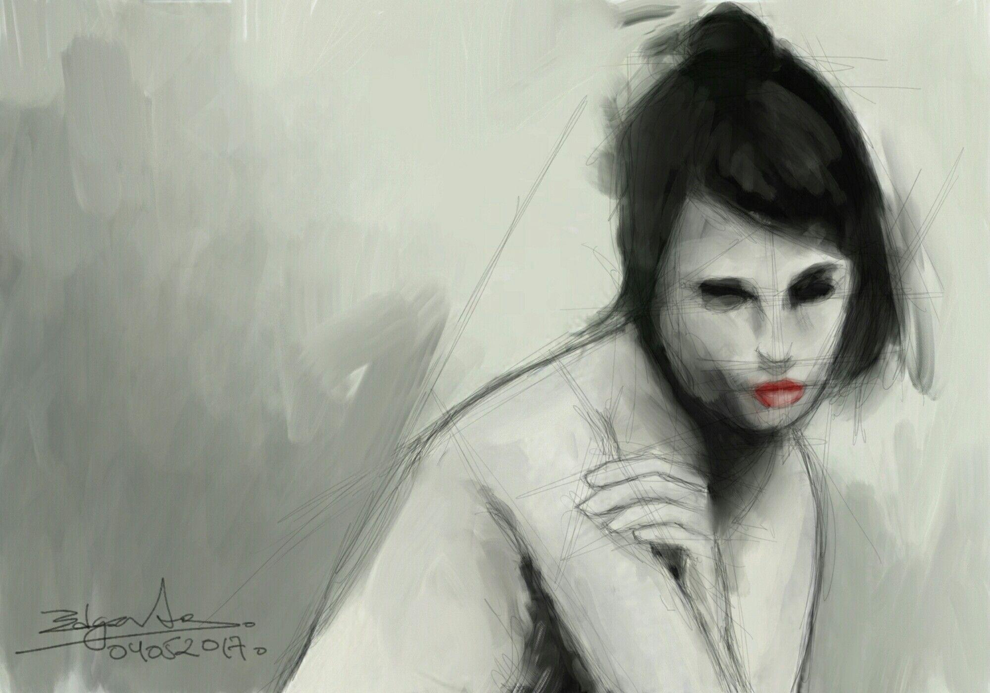 Ella. 04052017. Pintura digital.