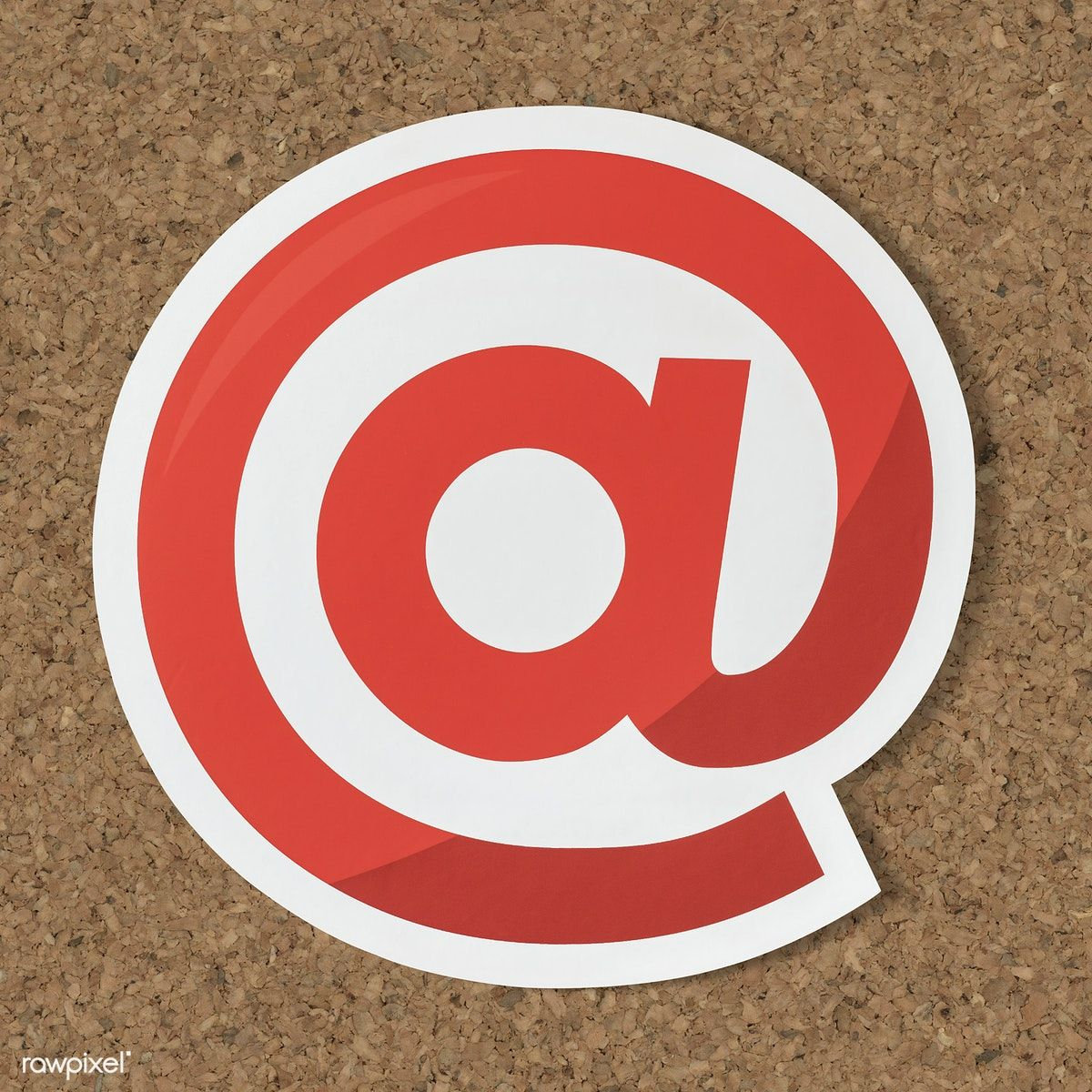 At Online Internet Symbol Icon Free Image By Rawpixel Paper