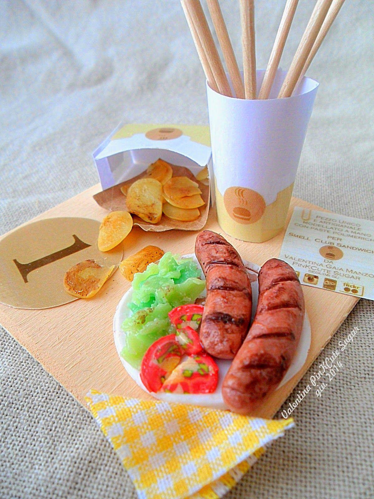 Miniature food kawaii jewels fimo