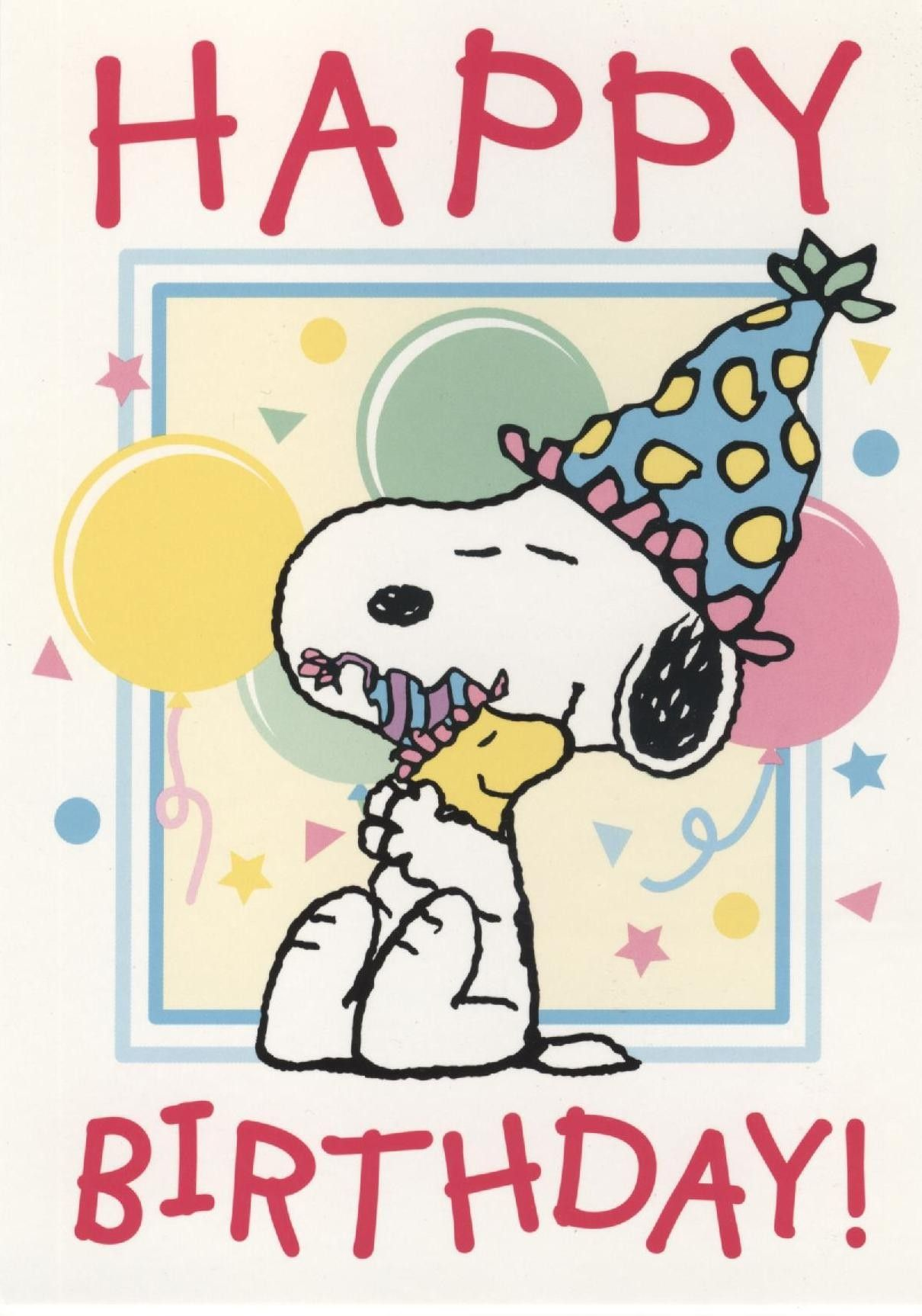 Birthday Cards For Male Friend Snoopy