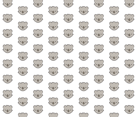 Koala Bear Pattern fabric by mintparcel on Spoonflower - custom fabric