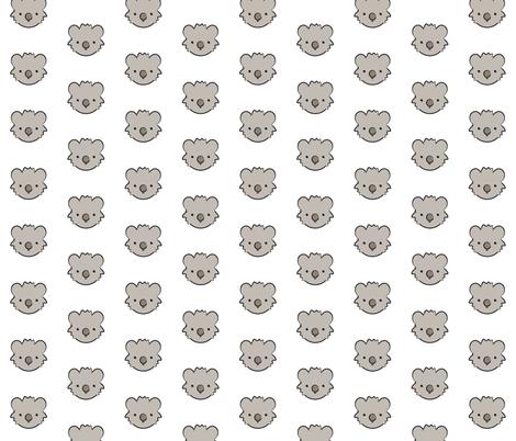 Koala Bear Pattern fabric by mintparcel on Spoonflower - custom fabric