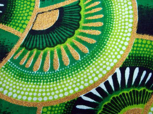 Life in Green — Green Hollywood fashion African wax print fabric...